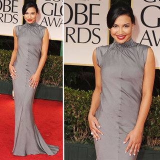 Naya Rivera at Golden Globes 2012