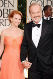 Kelsey Grammer and wife Kayte Walsh arrive at the Golden Globes.