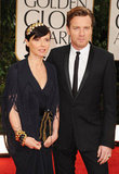Ewan McGregor looks hot with wife Eve Mavrakis on his arm.