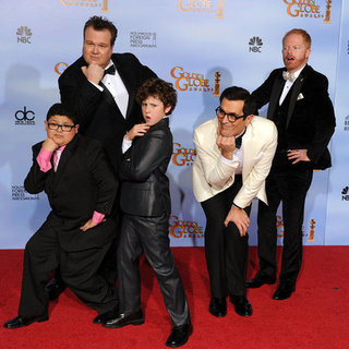Modern Family Cast at Golden Globes