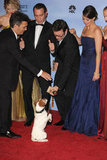 Uggie the dog steals the show with his The Artist costars.