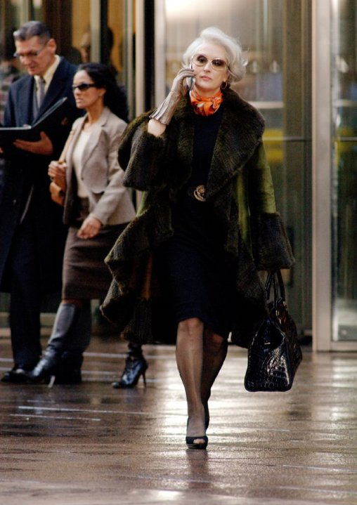 Streep as Miranda Priestly in The Devil Wears Prada.