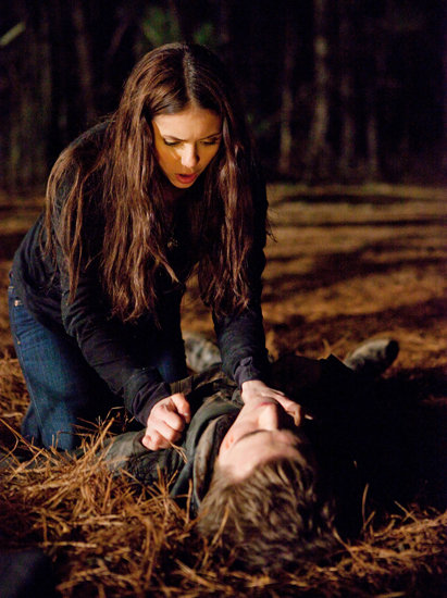 Sometimes Elena has to save Stefan, and though she's still a human, she's learning to hone her survival skills.