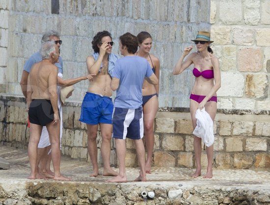 Lauren Bush Lauren and Nancy Shevell wore bikinis with shirtless David Lauren.