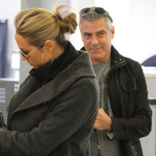 George Clooney and Stacy Keibler Pictures Going to NYC