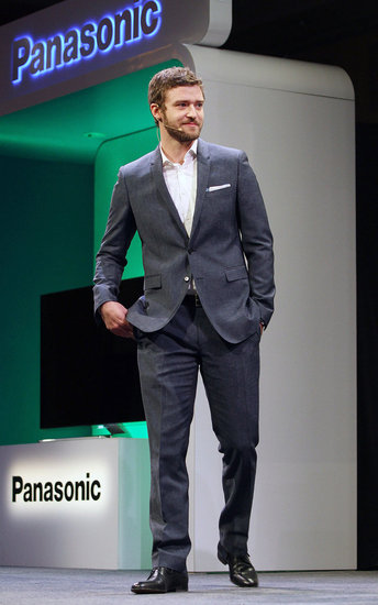 Justin Timberlake spoke at a Panasonic press event in Las Vegas.
