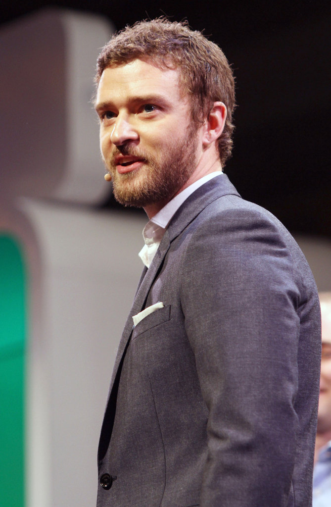 Justin Timberlake spoke at a press event inside The Venetian hotel.