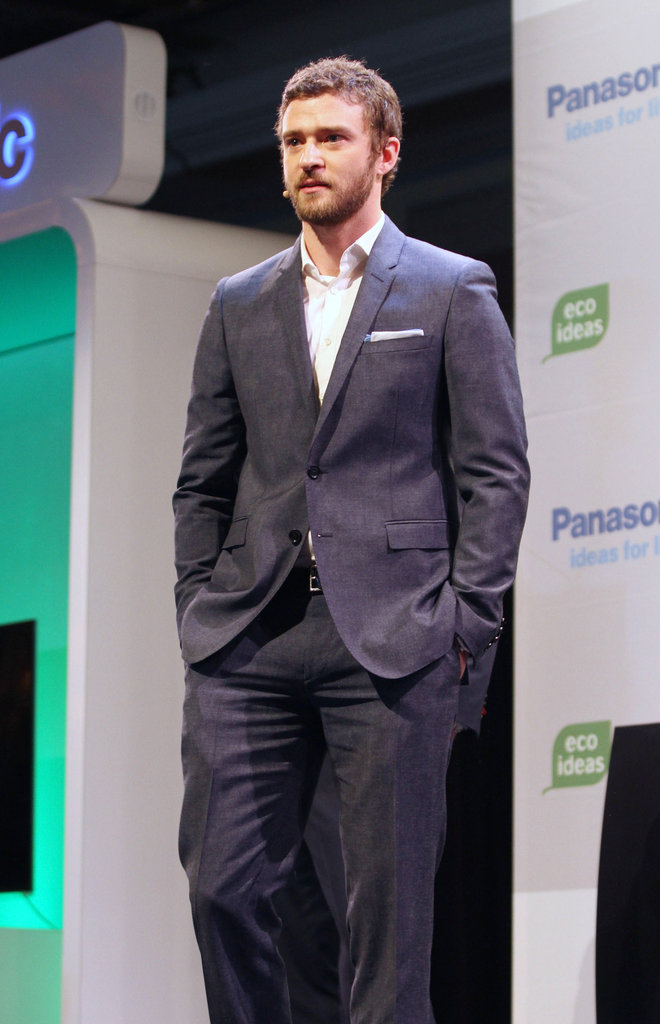Justin Timberlake was in Las Vegas for an electronics show.