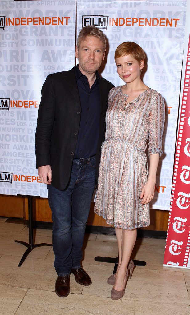 Kenneth Branagh and Michelle Williams came out to support My Week With Marilyn.
