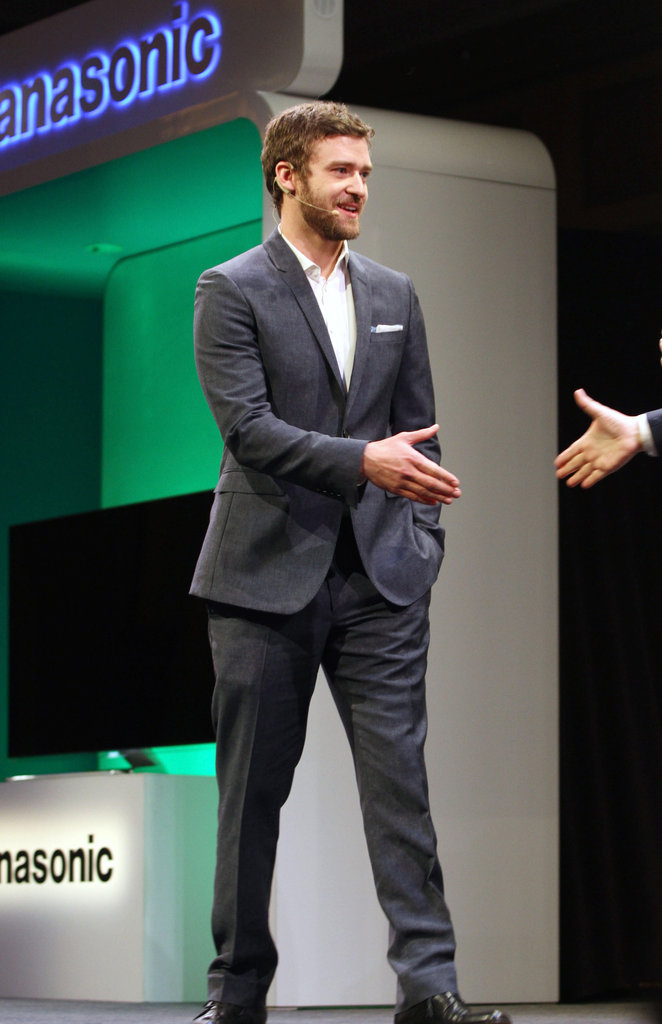 Justin Timberlake was a welcomed guest at a Panasonic press event.