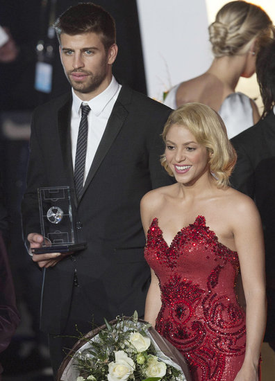 Shakira took the stage with boyfriend Gerard Piqué.