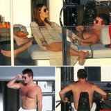 Simon Cowell Works Out Shirtless on a Yacht in St. Barts