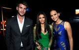 Liam Hemsworth, Nina Dobrev, and Jennifer Lawrence