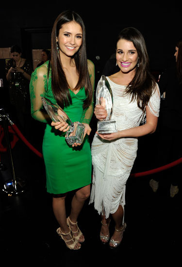 Nina Dobrev and Lea Michele