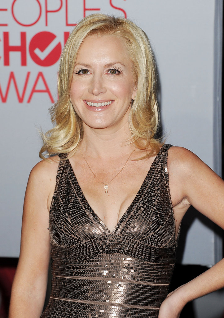 Angela Kinsey was turned out in a metallic dress.
