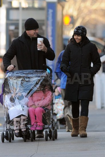 Matt Damon Meets Up With His Girls For a Family Stroll