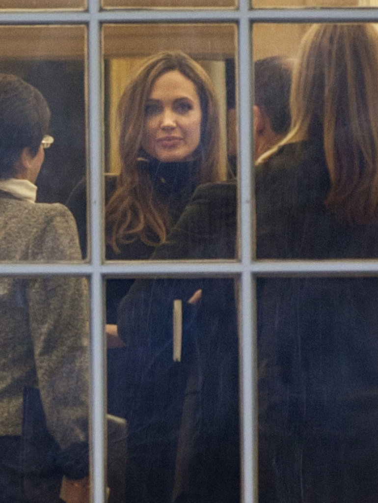 Angelina Jolie talked with White House staffers.