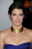 Cobie Smulders smiled in a gold choker.