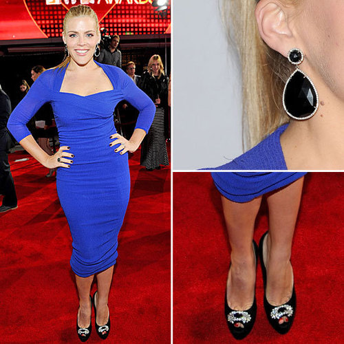 Pictures of Busy Phillips in Electric Blue Carven Dress at the 2012 People's Choice Awards: Rate it or hate it?