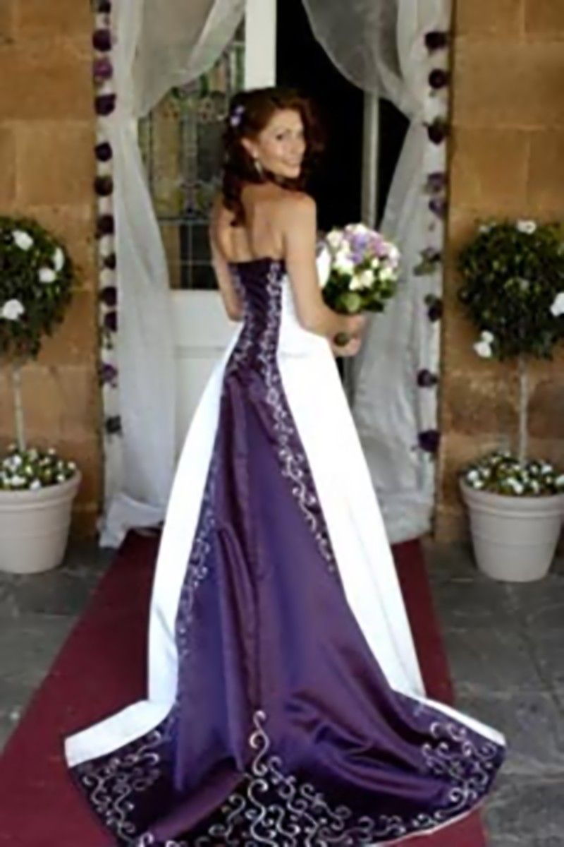 Purple Wedding Dresses For  : Purple and white wedding dresses