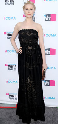 Designer of Evan Rachel Wood's Black Strapless Dress at the Critics' Choice Awards