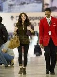 Ashley Greene walking through LAX.
