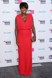 Viola Davis was in red at the 2012 Critics' Choice Movie Awards.