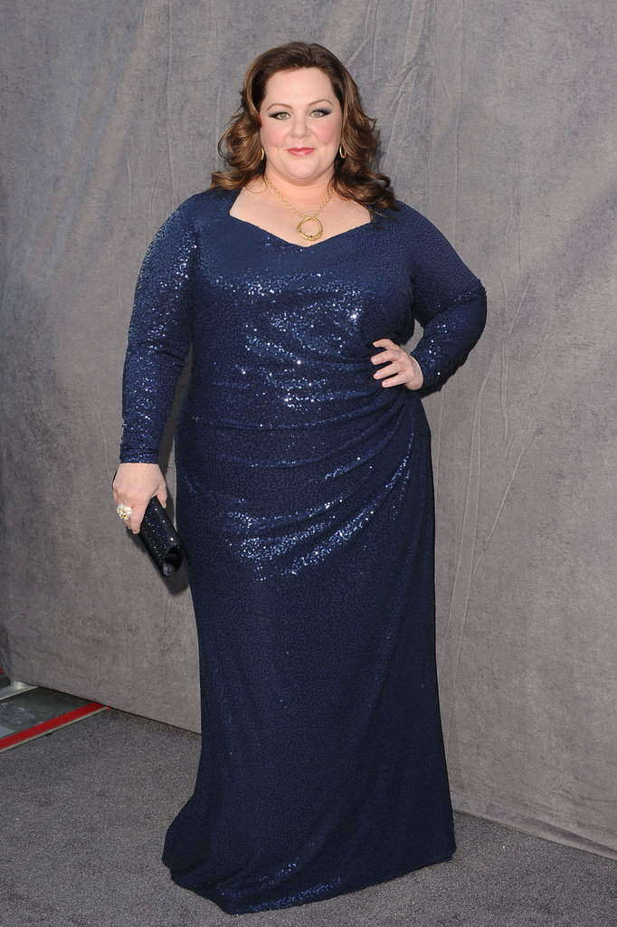 Melissa McCarthy wore blue sequins to the 2012 Critics' Choice Movie Awards.