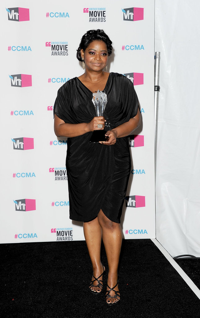 Octavia Spencer gave a glimpse at her Critics' Choice Movie Award.