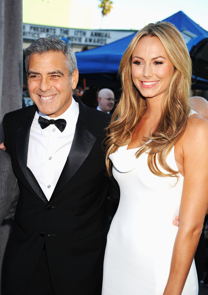 George Clooney and Stacy Keibler were together for the Critics' Choice Movie Awards.
