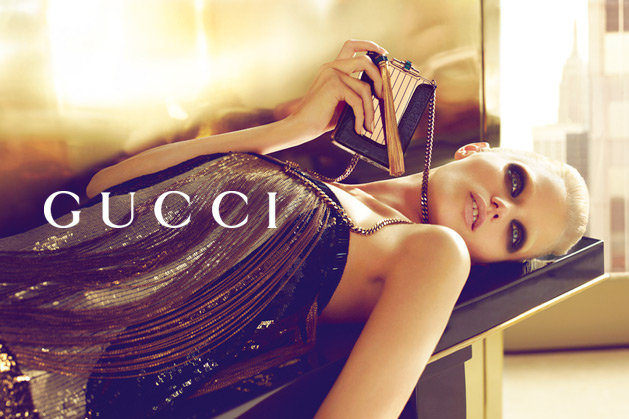 This Gucci Spring '12 dress and clutch combo is cocktail-attire perfect. Source: Fashion Gone Rogue