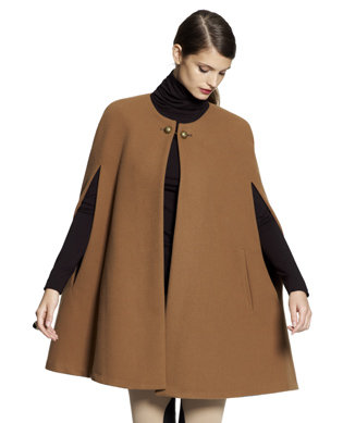Channel a retro '50s vibe with a classic beige buttoned cape.  Vince Camuto Button Neck Cape ($150, originally $195)