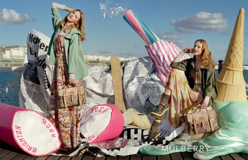 How fun would it be to model Mulberry's Spring '12 line amidst a backdrop of giant salt water taffy and ice cream props? Source: Fashion Gone Rogue