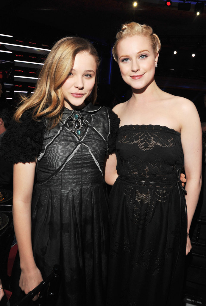 Blond bombshells Evan Rachel Wood and Chloe Moretz make a sweet pair.