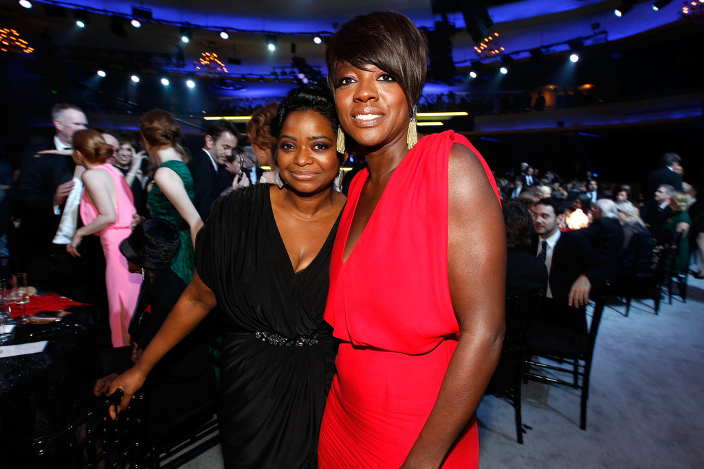 Octavia Spencer and Viola Davis celebrate big wins for The Help.