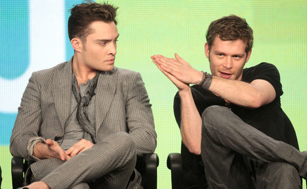 Ed Westwick and Joseph Morgan
