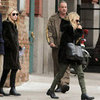 Mary-Kate and Ashley Olsen Wearing Matching Fur Jackets