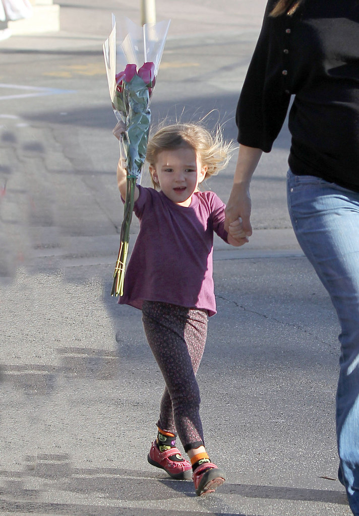 Seraphina Affleck was happy to spend the day with her mom.
