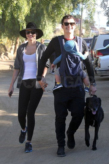 Miranda, Orlando, and Flynn went for an early morning hike with their dog.