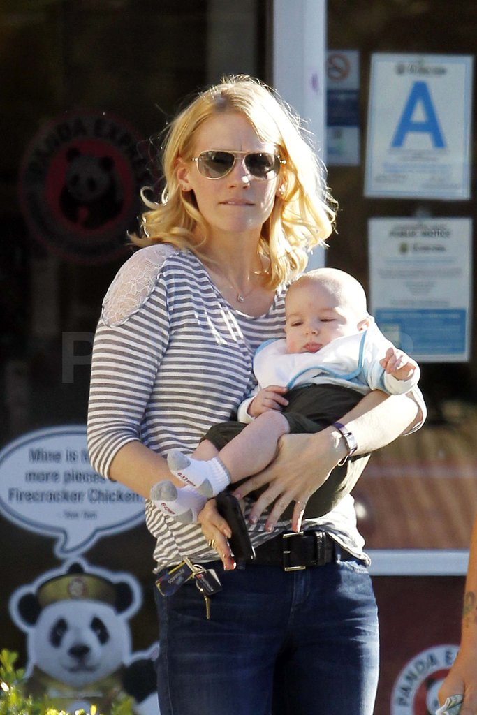 January Jones with Xander.