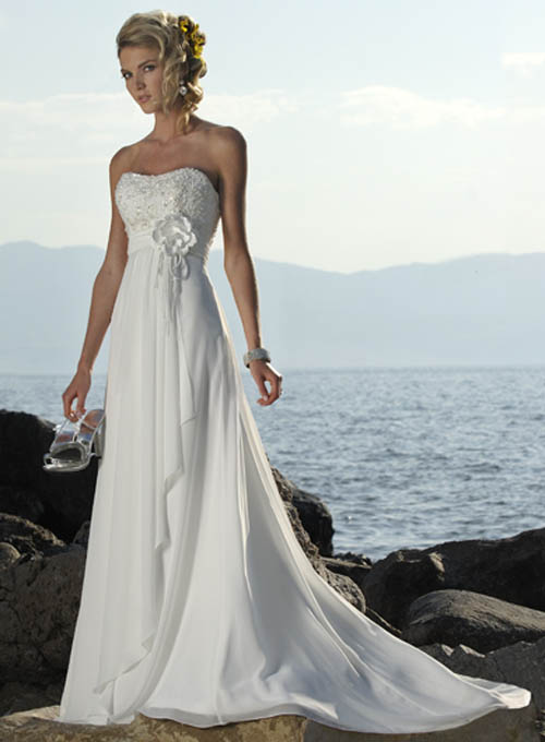 Strapless Beach Wedding Dresses 1