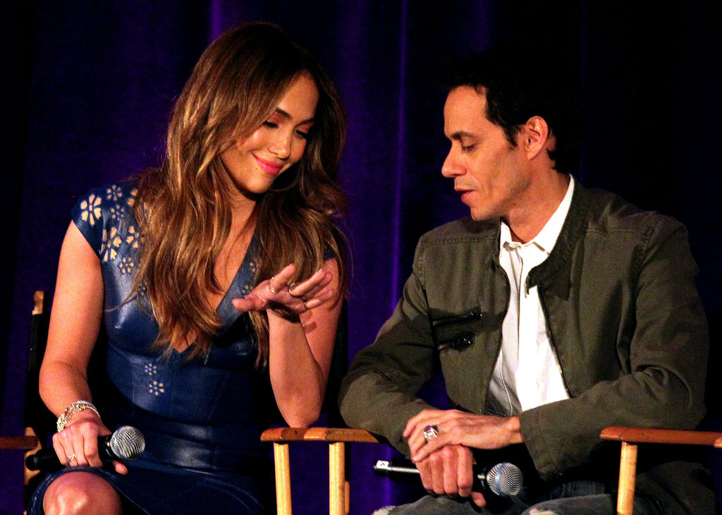 Jennifer Lopez and Marc Anthony Hold Hands and Get Close For a TV Press Day
