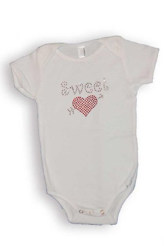Smartee Pants Baby Girls Crystal Sweet Heart Valentine's Day Onesie ($22)
