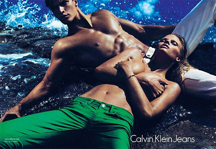 And again for Calvin Klein Jeans Spring 2012 campaign. Source: Fashion Gone Rogue
