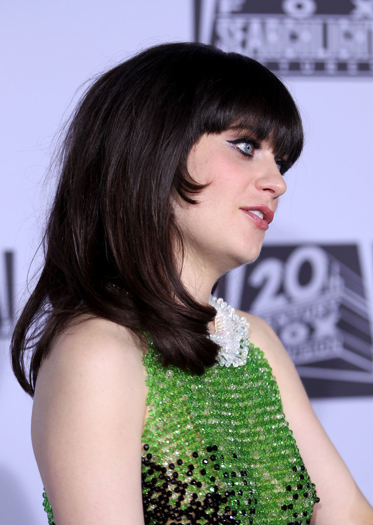 Zooey Deschanel was ready to party with Fox.