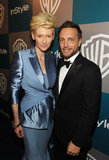 Tilda Swinton posed with Ariel Foxman.