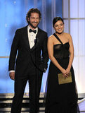 Gerard Butler and Mila Kunis at the Golden Globes.