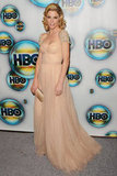 Julie Bowen hit the carpet for the HBO Globes party.