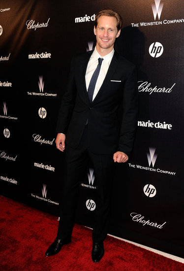 Alexander Skarsgard at the Weinstein Company's Golden Globes party.