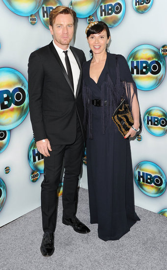 Ewan McGregor and Eve Mavrakis attended HBO's post-Golden Globes bash.